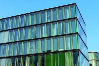 Modern green office building